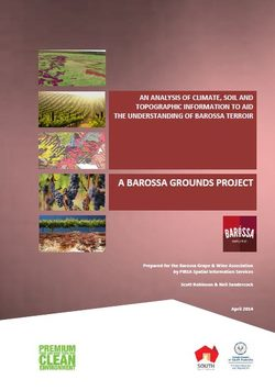 Barossa Grounds Technical Report