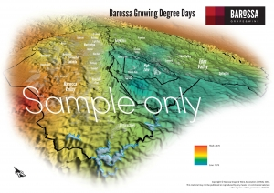 Barossa Grounds Growing Degrees Days Map