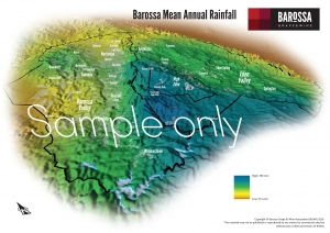 Barossa Grounds Mean Annual Rainfall Map