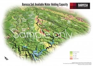 Barossa Grounds Soil Water Holding Capacity Map