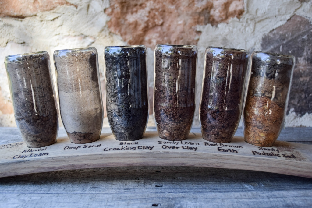 Different soil types of Barossa vineyards