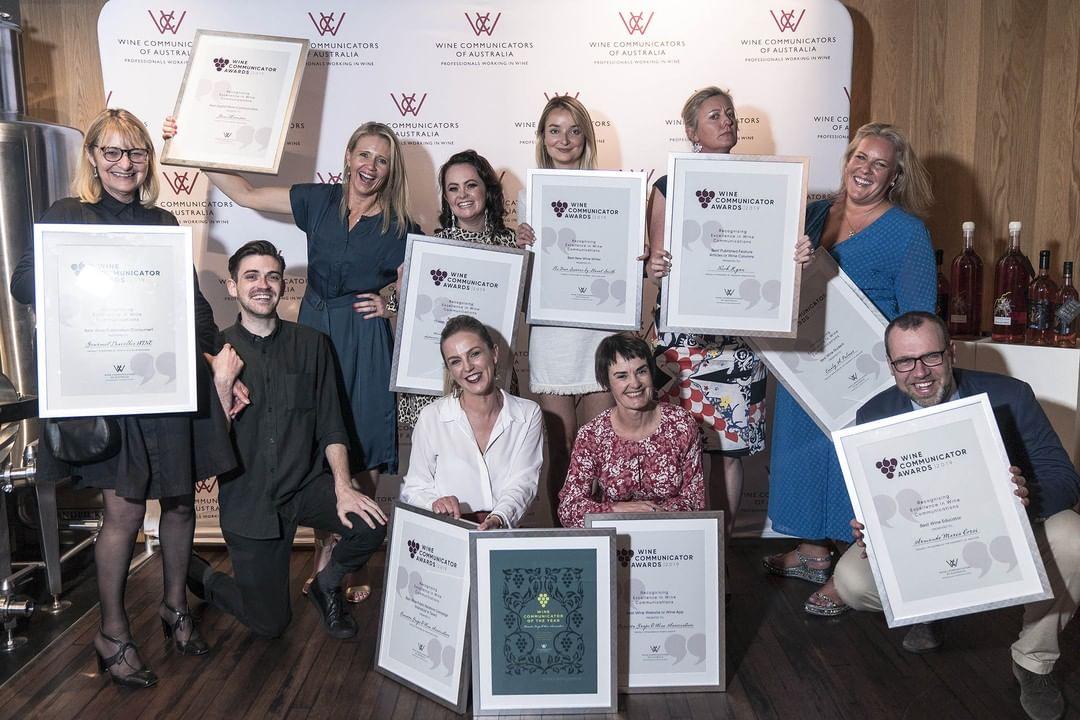 Winners of the 2019 WCA Wine Communicator of the Year Awards